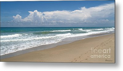 Treasure Coast Beach Florida Seascape C4 Metal Print by Ricardos Creations