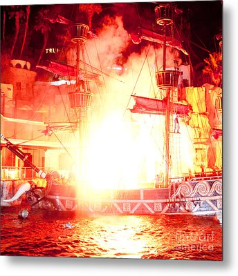 Treasure Island Explosion Metal Print by Andy Smy