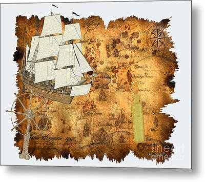 Treasure Map Metal Print