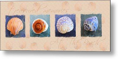 Treasured Memories Sea Shell Collection Metal Print by Jai Johnson