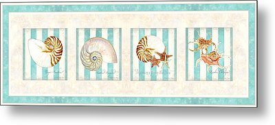 Treasures From The Sea - Nautilus Shell Metal Print by Audrey Jeanne Roberts