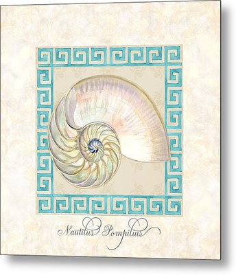 Treasures From The Sea - Nautilus Shell Interior Metal Print by Audrey Jeanne Roberts