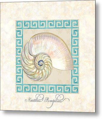 Treasures From The Sea - Nautilus Shell Interior Metal Print