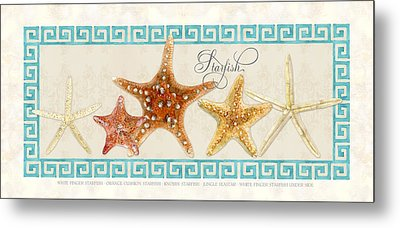 Treasures From The Sea - The Chorus Line Metal Print by Audrey Jeanne Roberts