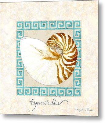Treasures From The Sea - Tiger Nautilus Shell Metal Print
