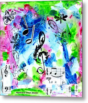 Metal Print featuring the mixed media Treble Mp by Genevieve Esson