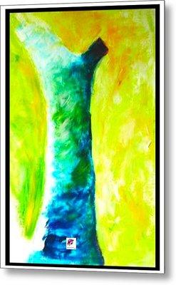 Metal Print featuring the painting Tree 1 Peninsula Rain Forest by Carol Rashawnna Williams