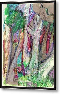 Tree Collage Metal Print by Ruth Renshaw