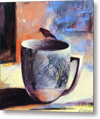 Tree Cup Metal Print by Joan Fullerton