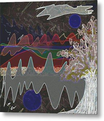 Tree Energy Metal Print by Ann Calvo