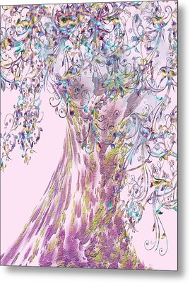 Metal Print featuring the digital art Tree Fancy by Katy Breen