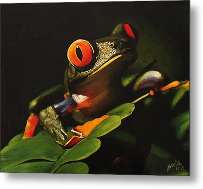 Tree Frog Metal Print by Maciel Cantelmo