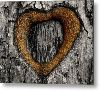 Tree Graffiti Heart Metal Print by Chris Berry