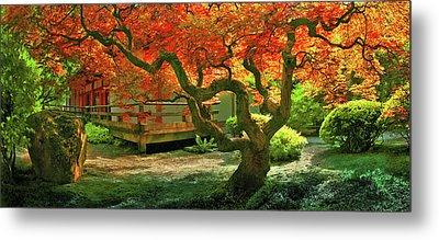 Tree, Japanese Garden Metal Print by Marius Sipa