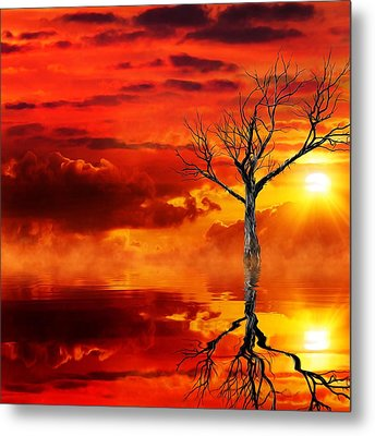 Tree Of Destruction Metal Print by Gabriella Weninger - David