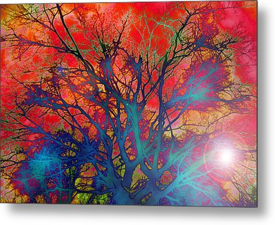 Tree Of Ghosts Metal Print by Linnea Tober