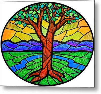 Tree Of Grace - Summer Metal Print