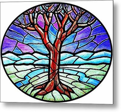 Tree Of Grace - Winter Metal Print