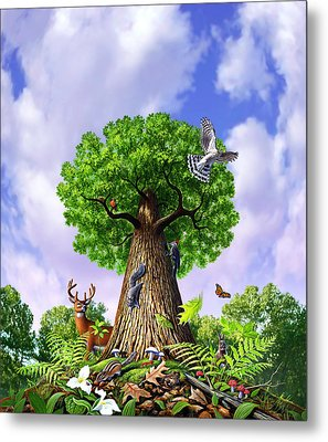 Tree Of Life Metal Print by Jerry LoFaro