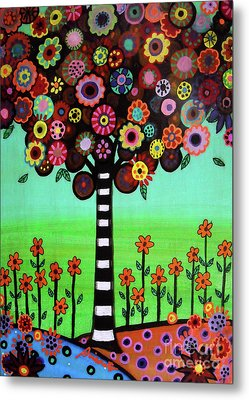 Metal Print featuring the painting Tree Of Life by Pristine Cartera Turkus