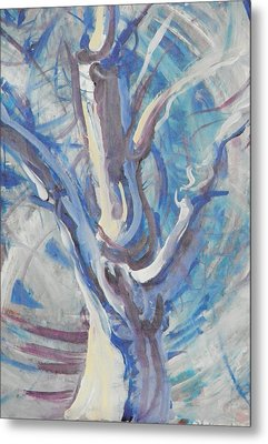 Metal Print featuring the painting Tree Of Light by John Fish