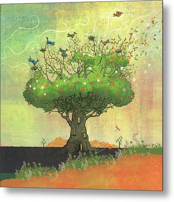Tree Of Seasons Metal Print by Dennis Wunsch