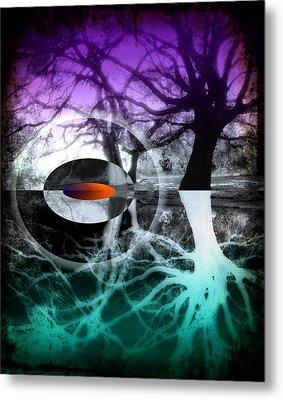 Tree Of Shadows Metal Print by Michi Sherwood