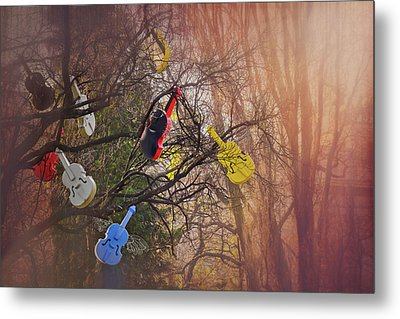 Tree Of Violins In Vienna  Metal Print
