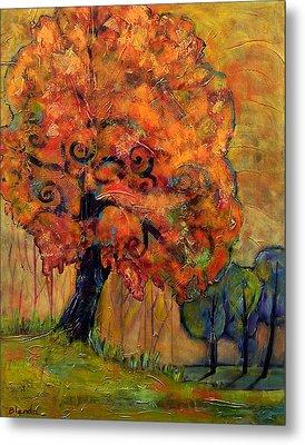 Tree Of Wisdom Metal Print by Blenda Studio