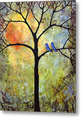 Tree Painting Art - Sunshine Metal Print by Blenda Studio