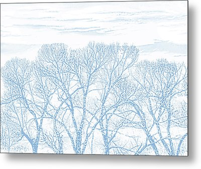 Metal Print featuring the photograph Tree Silhouette Blue by Jennie Marie Schell