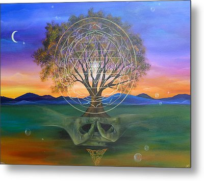 Tree Yantra Metal Print by Sundara Fawn