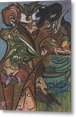 Treed In Skiatook Metal Print by Stu Hanson