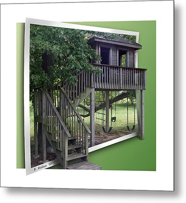 Treehouse Playground Metal Print by Brian Wallace