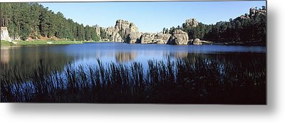 Trees Around The Lake, Sylvan Lake Metal Print