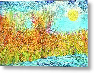 Metal Print featuring the digital art Trees Flow With Sky - Boulder County Colorado by Joel Bruce Wallach