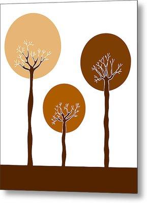 Trees Metal Print by Frank Tschakert