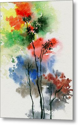 Trees In Colors Metal Print by Anil Nene