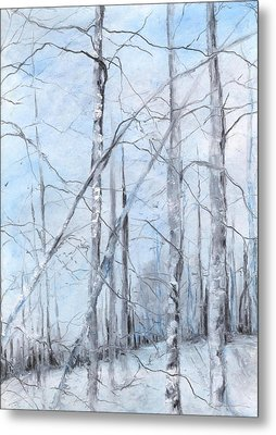 Trees In Winter Snow Metal Print by Robin Miller-Bookhout