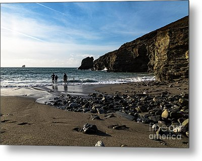 Metal Print featuring the photograph Trevellas Cove by Brian Roscorla