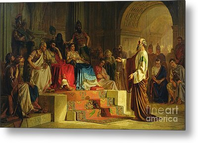 Trial Of The Apostle Paul Metal Print by Nikolai K Bodarevski
