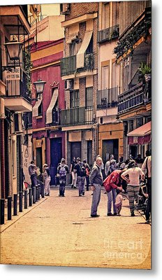 Metal Print featuring the photograph Triana On A Sunday Afternoon 2 by Mary Machare