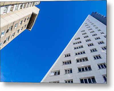 Triangle Modern Building Metal Print by John Williams