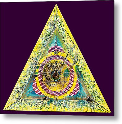 Triangle Triptych 2 Metal Print by Tom Hefko