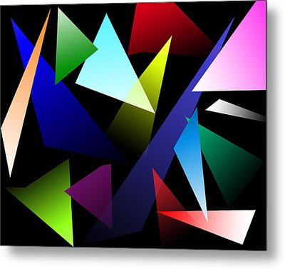 Triangles Metal Print by David Stasiak