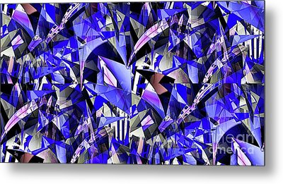 Triangulate Metal Print by Ron Bissett