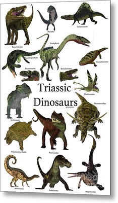 Triassic Dinosaurs Metal Print by Corey Ford
