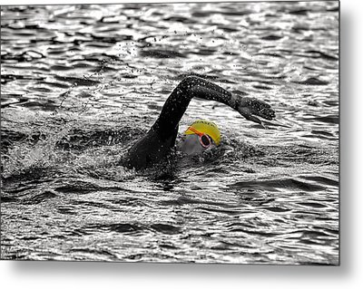 Triathlon Swimmer Metal Print by Ari Salmela