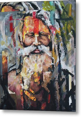 Tribal Chief Sadhu Metal Print by Richard Day