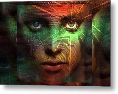 Metal Print featuring the digital art Tribal Future by Shadowlea Is